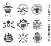 barbecue and grill labels set.... | Shutterstock . vector #574325473