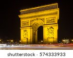arch of triumph in paris  france | Shutterstock . vector #574333933