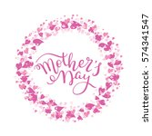 hand lettering mother's day... | Shutterstock .eps vector #574341547