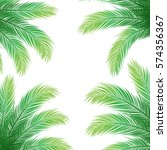 Palm Leaves On White Backgroun...