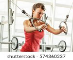 young female with sport body... | Shutterstock . vector #574360237