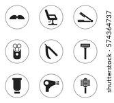set of 9 editable hairdresser...