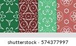 set of decorative geometric... | Shutterstock .eps vector #574377997