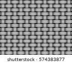 woven fiber seamless pattern.... | Shutterstock .eps vector #574383877