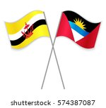 bruneian and antiguan crossed... | Shutterstock .eps vector #574387087