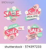 sale   set of fashion color... | Shutterstock .eps vector #574397233