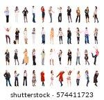 people diversity big group  | Shutterstock . vector #574411723