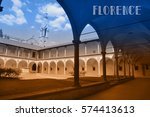 travel postcard with view of... | Shutterstock . vector #574413613