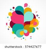 colorful abstract background ... | Shutterstock .eps vector #574427677