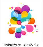 colorful abstract background ... | Shutterstock .eps vector #574427713