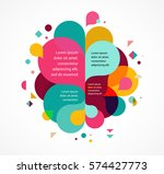 colorful abstract background ... | Shutterstock .eps vector #574427773