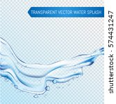 vector blue water splash and... | Shutterstock .eps vector #574431247