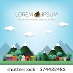 village. small town. rural and... | Shutterstock .eps vector #574432483