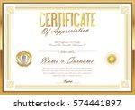 certificate retro design... | Shutterstock .eps vector #574441897