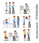 doctors characters set.... | Shutterstock . vector #574442383