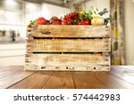 vegetables on table in kitchen  | Shutterstock . vector #574442983