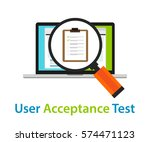 user acceptance test uat... | Shutterstock .eps vector #574471123