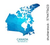 canada map   blue geometric... | Shutterstock .eps vector #574475623