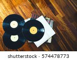 old vinyl record and a... | Shutterstock . vector #574478773
