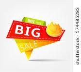modern yellow orange offer...   Shutterstock .eps vector #574485283