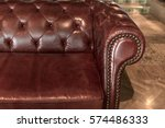 luxurious red leather sofa   Shutterstock . vector #574486333