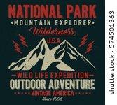 mountain explorer  national... | Shutterstock .eps vector #574501363