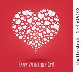 happy valentines day poster... | Shutterstock .eps vector #574506103