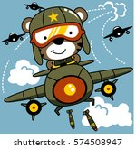 tiger is a jet pilot dropping... | Shutterstock .eps vector #574508947