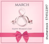 8 march greeting card template... | Shutterstock . vector #574512397