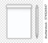 blank realistic notepad...