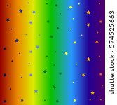 star and rainbow pattern.... | Shutterstock . vector #574525663