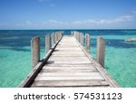 Low Angle View Of Wooden Jetty...