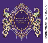 vintage invitation and wedding... | Shutterstock .eps vector #574550077