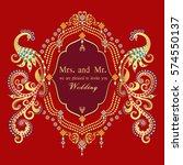 vintage invitation and wedding... | Shutterstock .eps vector #574550137