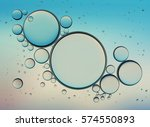 oil bubbles isolated on white... | Shutterstock . vector #574550893