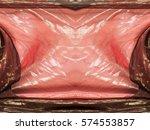 Pink Brown Transparent Fabric....