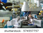 textile  industrial embroidery... | Shutterstock . vector #574557757