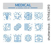 doodle vector line icons set of ... | Shutterstock .eps vector #574561393