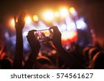 crowd at concert recording... | Shutterstock . vector #574561627