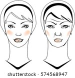 face  cosmetic concept | Shutterstock .eps vector #574568947