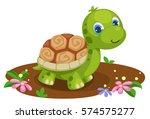 cute tortoise cartoon | Shutterstock .eps vector #574575277