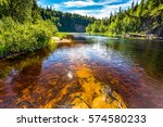 forest river panorama landscape | Shutterstock . vector #574580233