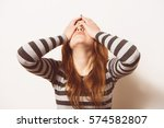 woman who made a mistake | Shutterstock . vector #574582807