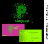 template p brand name  company. ... | Shutterstock .eps vector #574585417