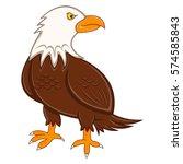 eagle cartoon | Shutterstock . vector #574585843