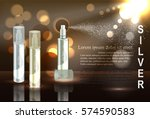 cosmetic product silver and... | Shutterstock .eps vector #574590583