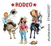 cowboys and cowgirls.... | Shutterstock . vector #574602337
