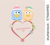 valentines day.illustration of... | Shutterstock .eps vector #574604983