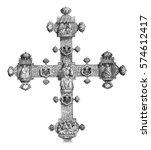 reverse of the cross of... | Shutterstock . vector #574612417