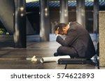 sad asian businessman losing...   Shutterstock . vector #574622893